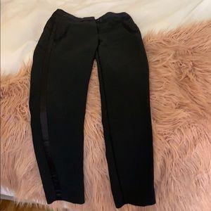 CHIC black work pants from Zara w silk detailing